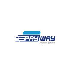 Digital electronic wallet system transaction logo vector