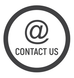 Email address line icon contact us and website vector
