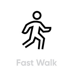 Fast walk icon vector