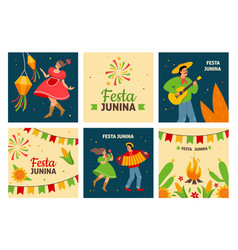 festa junina traditional latin american fertility vector image