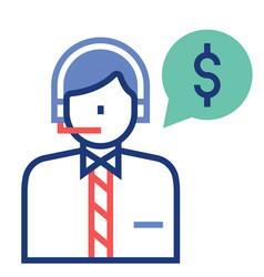 Financial advisor flatoutline vector