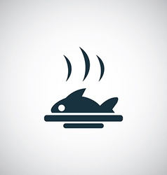 Fish dish icon vector