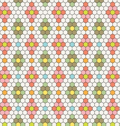 hexagon tile pattern vector image