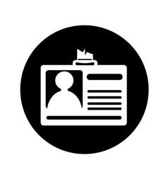 identification id card icon design vector image