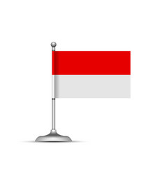 Indonesian flag on white background vector