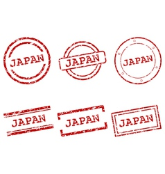 Japan stamps vector image