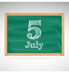 July 5 day calendar school board date vector