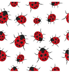 ladybug pattern seamless background vector image