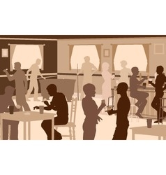 Lively pub vector