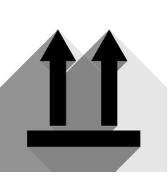 logistic sign of arrows black icon with vector image