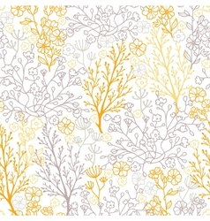 Magical floral seamless pattern background vector image