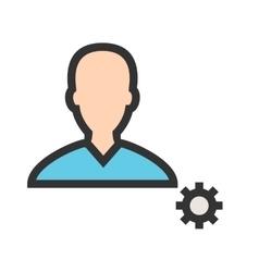 Male Profile Settings vector