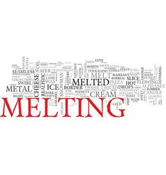 Melt word cloud concept vector