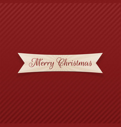 Merry christmas bent ribbon vector