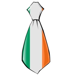 Necktie in national colours of Ireland vector