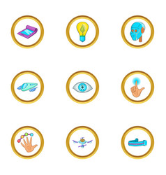 New thing icon set cartoon style vector