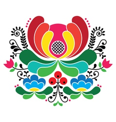 Norwegian folk art pattern - Rosemaling embroidery vector