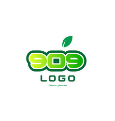 Number 909 numeral digit logo icon design vector