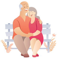 old couple on white vector image