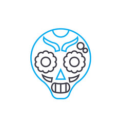 painted mask linear icon concept painted mask vector image