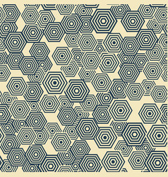 pattern is seamless geometric hexagon vector image