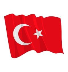Political waving flag of turkey vector