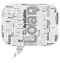 Quick Mortgage Tips for Home Loans Equity Loans vector image