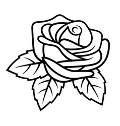 Rose sketch 002 vector