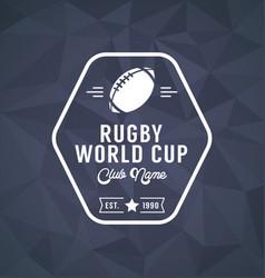 rugworld cup logo sport vector image