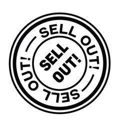 Sell out stamp on white vector