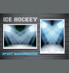 Set backgrounds ice hockey arena vector
