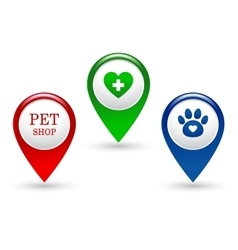 Set of veterinary pointers vector