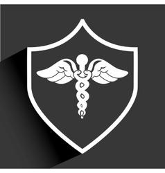 shield medical vector image vector image