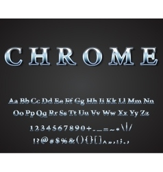 Shiny chrome letters vector