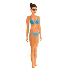 slim girl in bikini icon vector image