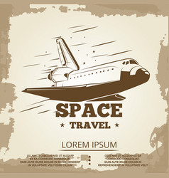 Space travel grunge vintage banner design vector