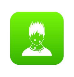sweaty man icon digital green vector image