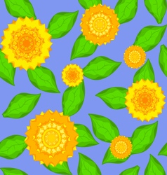 Texture of sunflowers vector image