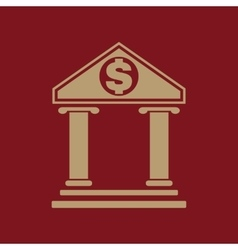 The bank icon Banking and finance symbol Flat vector