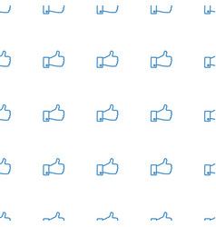 thumb up icon pattern seamless white background vector image