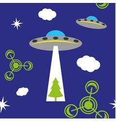 ufo pattern vector image