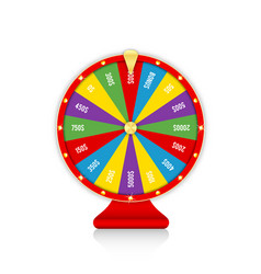 wheel fortune colorful spinning fortune wheel vector image