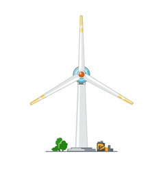 Wind Turbine on White Background vector