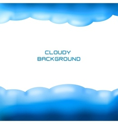 cloudy background vector image
