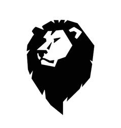 Lion head icon vector image