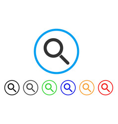 locate rounded icon vector image vector image