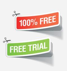 100 percent free labels vector