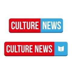 Culture News button vector image