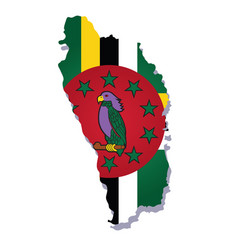 Dominica flag amp map vector