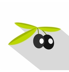 Olives icon flat style vector
